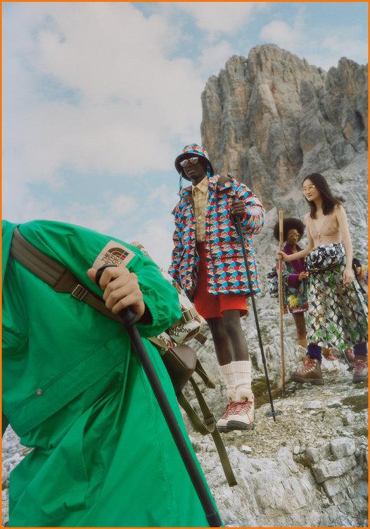 Gucci показали коллаборацию с The North Face